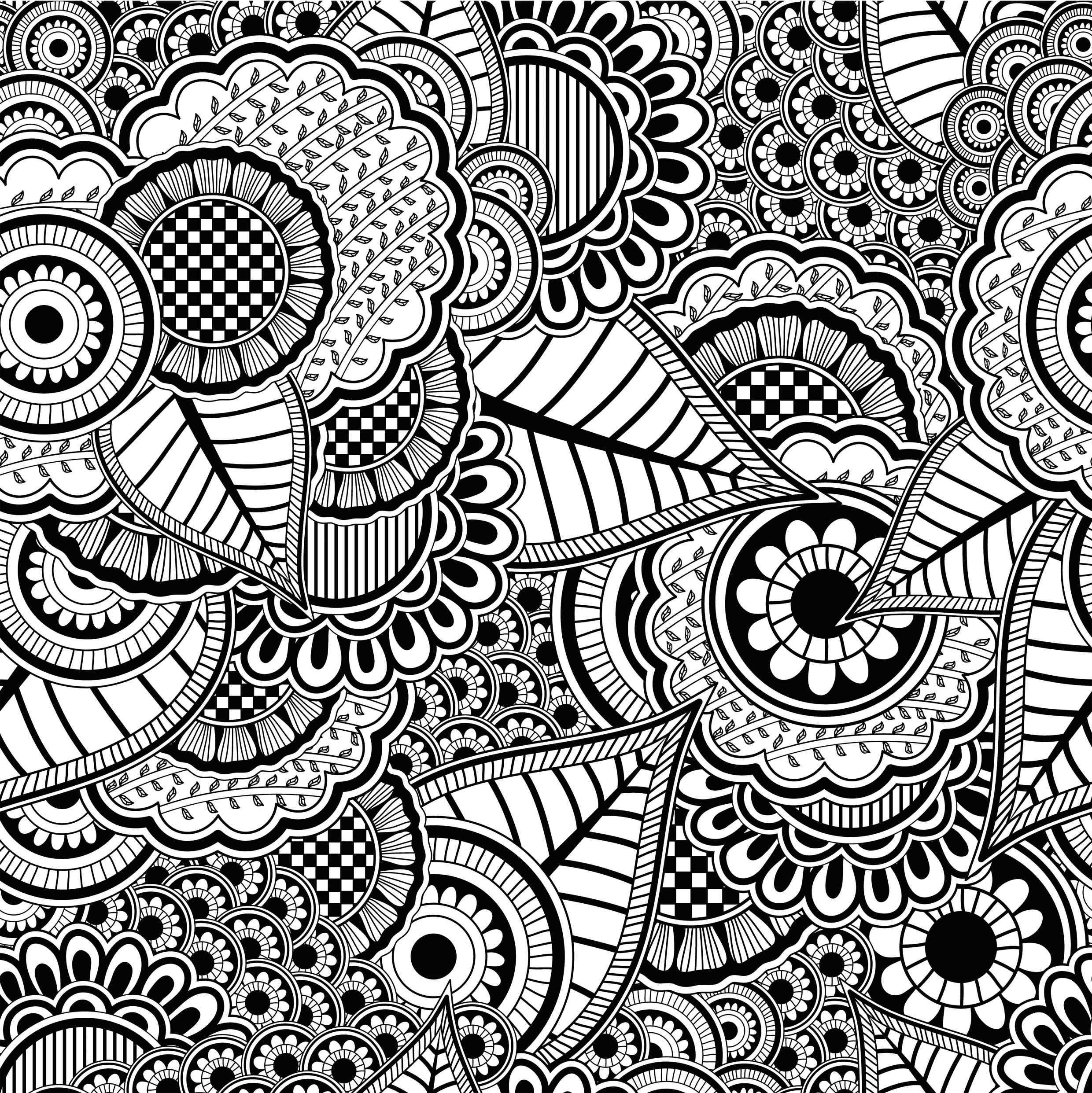 coloriage anti stress facile